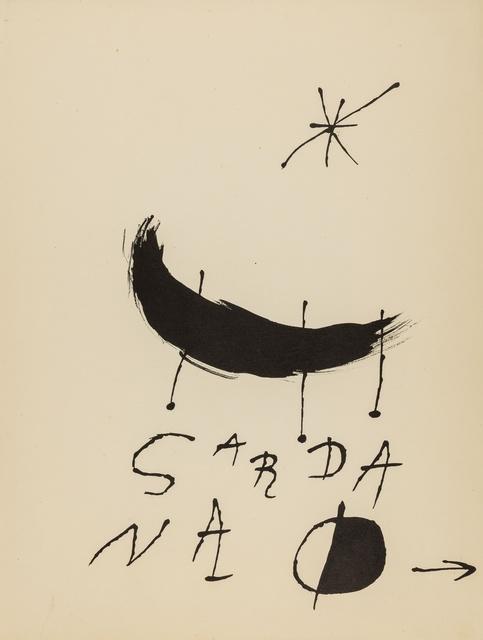 Joan Miró, 'Les Essences de la Terra (Cramer books 123)', 1968, Forum Auctions