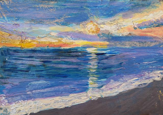 , 'Coney Island Winter Sunset,' 2017, Fountain House Gallery