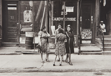 N.Y.C. (women in front of candy store)