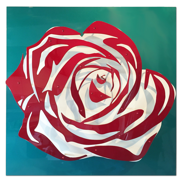 , 'Candy Rose - Red on Teal,' 2017, FP Contemporary