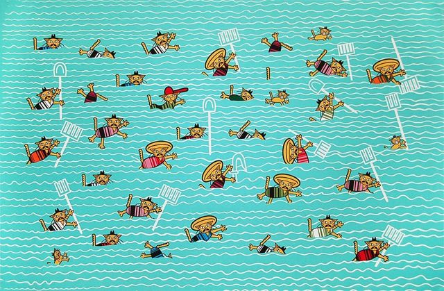 , 'Amigos De La Granja Nadando El Rio Grande,' 2011, Ruiz-Healy Art