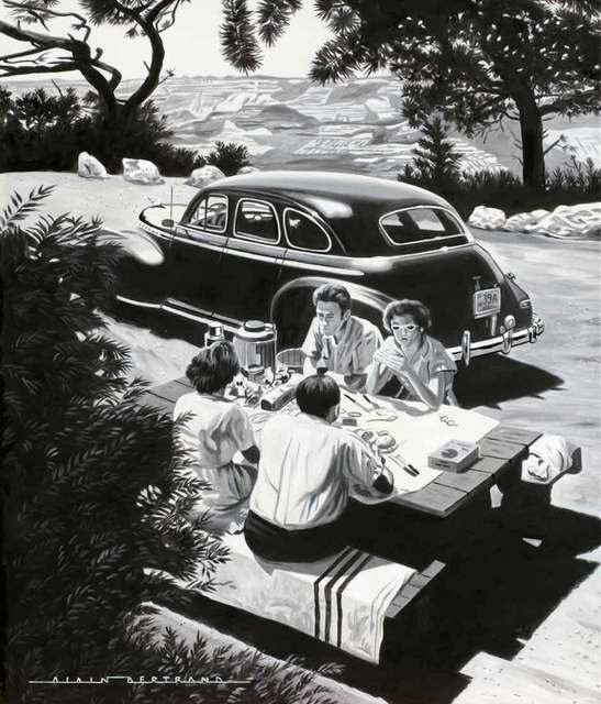 Alain Bertrand, 'Picnic in National Park', Catto Gallery