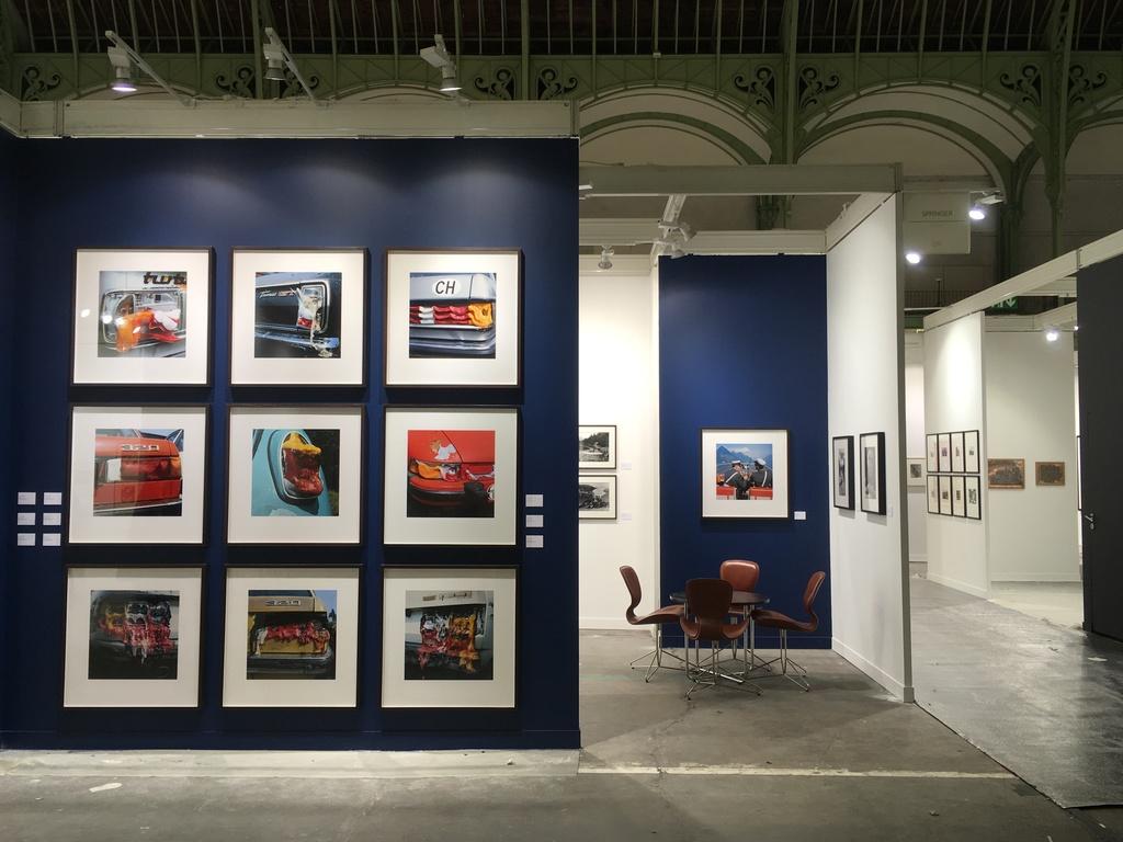 Installation shot Arnold Odermatt solo show at Paris Photo 2017