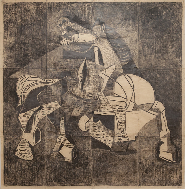 Damien Deroubaix, 'Carving a Giant', 2019, Nosbaum & Reding