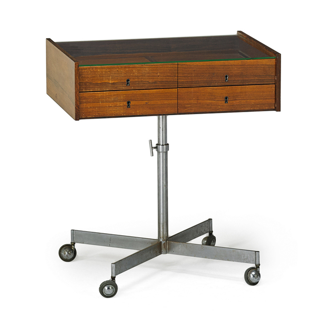 'Danish, Flatware Display Cabinet, Denmark', Mid-20th C., Rago/Wright