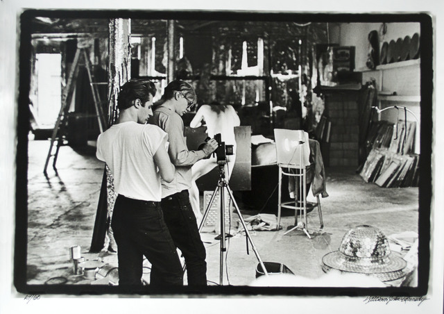 William John Kennedy, 'Andy Warhol with assistant Gerard Malanga filming Taylor Mead's Ass', 1964, Photography, Silver Gelatin, William John Kennedy Collection