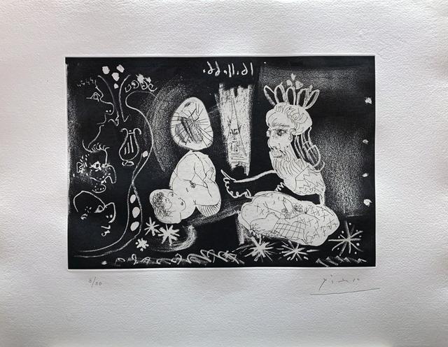 Pablo Picasso, 'Au Théâtre: Scène dans le style des Mille et une Nuits', 1966, Print, Aquatint, Galerie Raphael