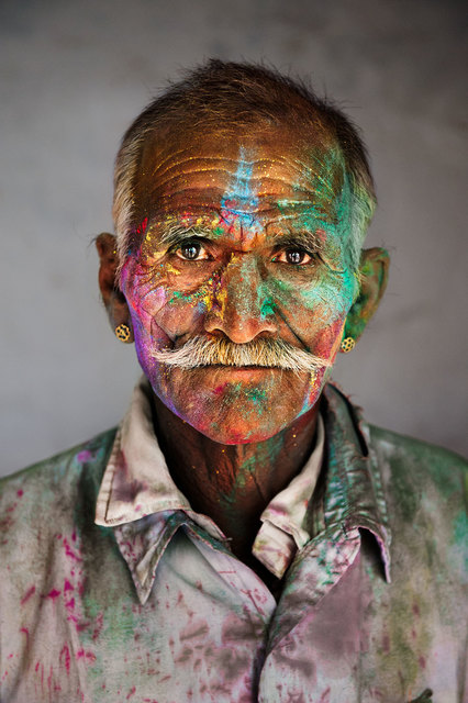 , 'Man Covered in Powder, Rajasthan, India,' 2009, Cavalier Galleries