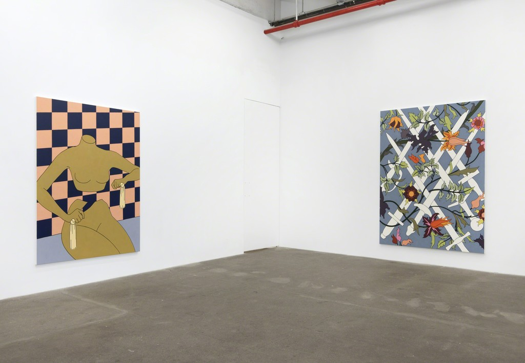 Caitlin Keogh, Loose Ankles, 2016, Installation view, Bortolami, New York
