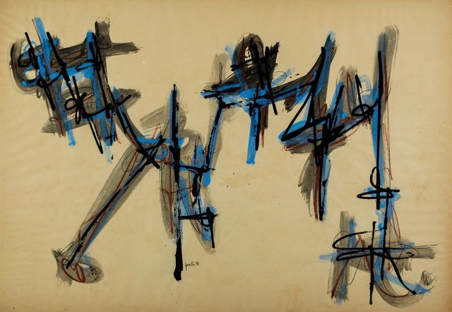 Achille Perilli, 'Untitled', 1957, Drawing, Collage or other Work on Paper, Tempera on paper, Finarte
