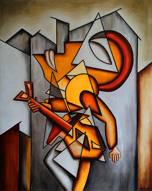 , 'Le Guitariste des Villes,' 2017, Emillions Art
