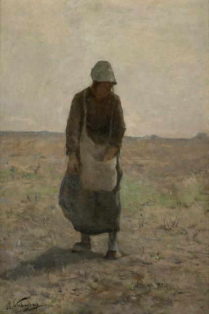 , 'Femme aux champs, sd,' Not dated, Musée d'Ixelles