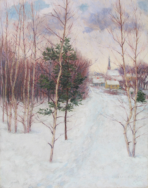 , 'New England Village,' ca. 1895, Caldwell Gallery Hudson