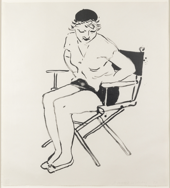 , 'Celia in the Director's Chair,' 1980, Susan Sheehan Gallery
