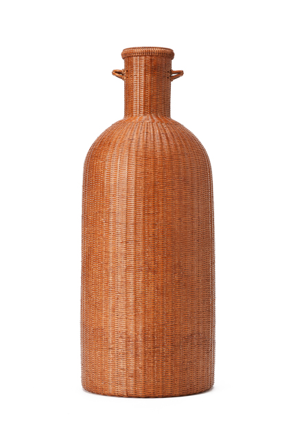 , 'Flower Basket Shape of Bottle,' 1910-2000, Yumekoubou Antique