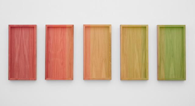 , 'Untitled (Neon Orange to Green Progression),' 2018, PRAZ-DELAVALLADE