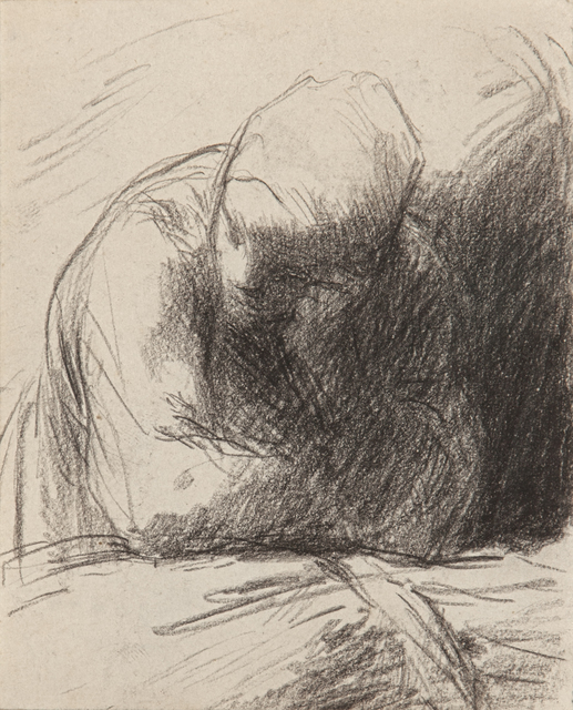 , ' Peasant Woman (the Artist's Wife) Leaning on a Sheaf of Wheat,' 1850-1853, Jill Newhouse Gallery