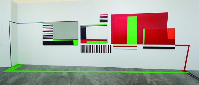 Beatriz Olano, 'Entrelazado', 2005, Installation, Acrylic on canvas, MDF wood and wall, Nueveochenta