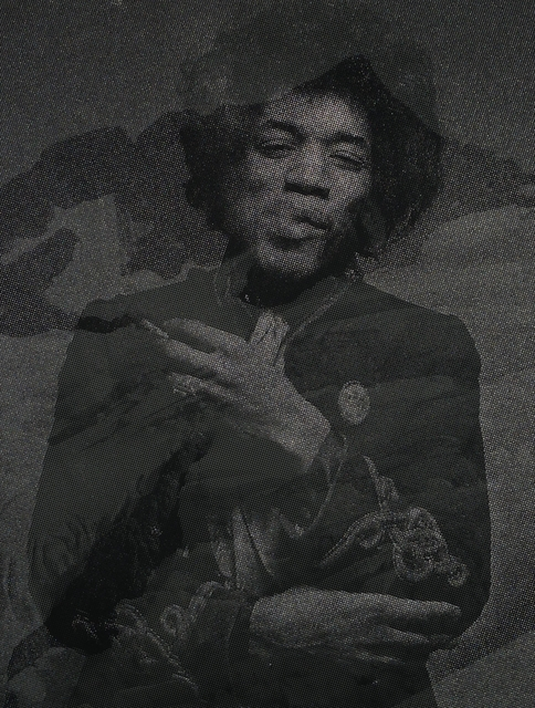 , 'Mt. Olympus/Jimi Hendrix (after Gered Mankowitz),' 2017, 101/EXHIBIT