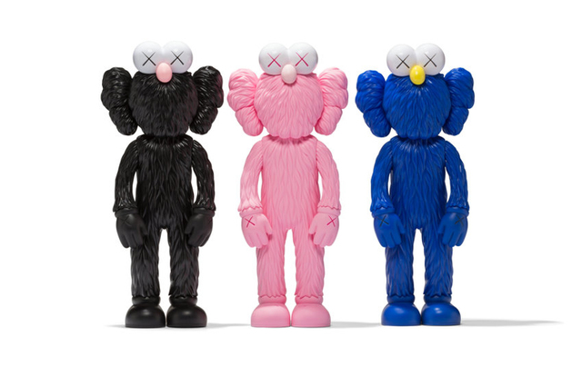 KAWS, 'BFF (set of 3: Black, Blue, Pink)', 2017-18, Lougher Contemporary: The Second Edition