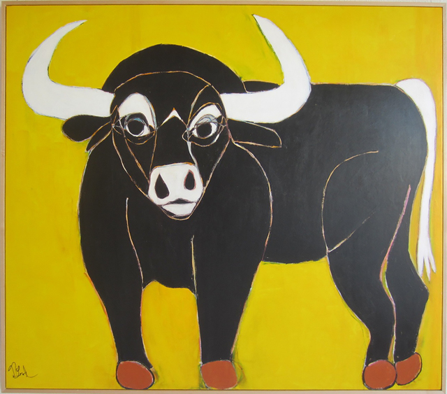 , 'Somerset the Black Bull,' 2017, Wallspace