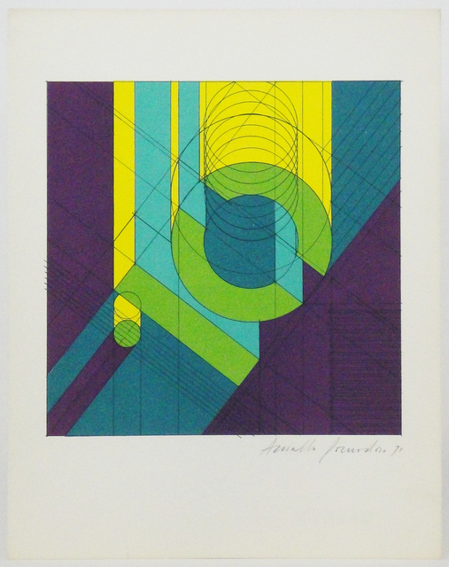 Arnaldo Pomodoro, 'Untitled', 1970-1979, Print, Photolithographic (6 offset colors) on paper, La Maison de la Petite Sara