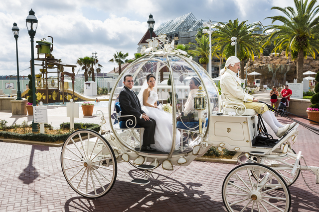 , 'Christina, 21, en route to her wedding in Cinderella's glass coach, Walt Disney World, Orlando, Florida,' 2013, Fahey/Klein Gallery