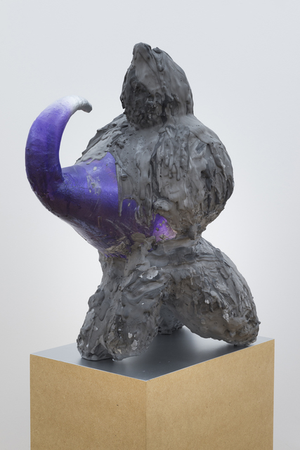 , '	Sealed Vessel 	 (Supplicant Figure with Top Knot),' , Western Exhibitions