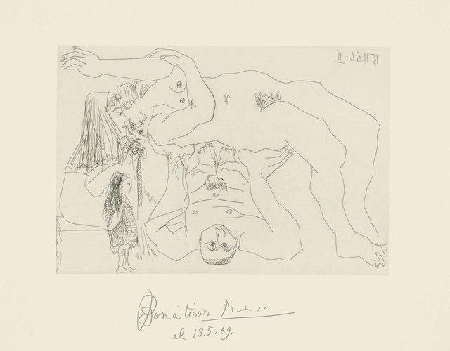Pablo Picasso, 'Plate 8, from: El Entierro del Conde de Orgaz', 1966, Christie's