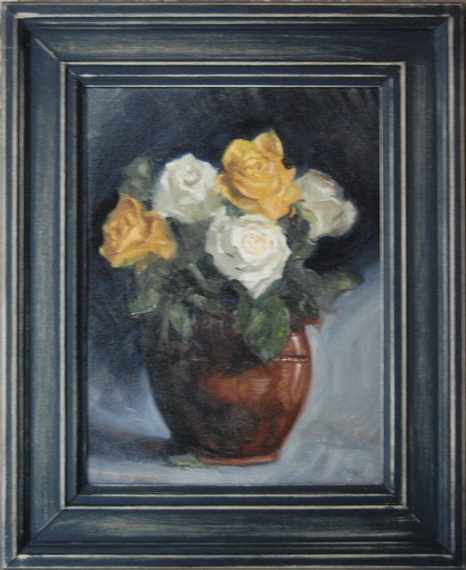 , 'White and Yellow Roses,' ca. 2018, Robert Eagle Fine Art