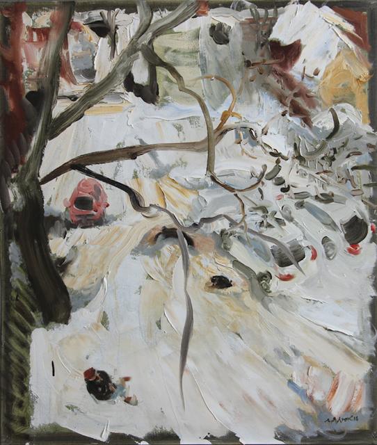 , 'Backyard to Cooper Street and Woman Smoking, December 19, 2016,' 2016, Robert Kananaj Gallery