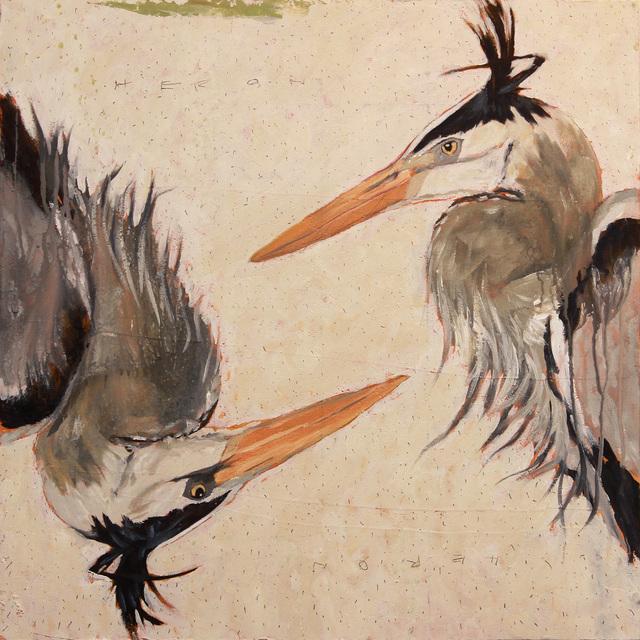 , 'Heron, Heron,' 2017, WaterWorks Gallery