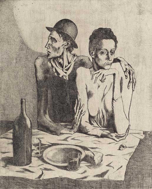 Pablo Picasso, 'Le Repas Frugal, from La suite des Saltimbanques', 1904, Christie's