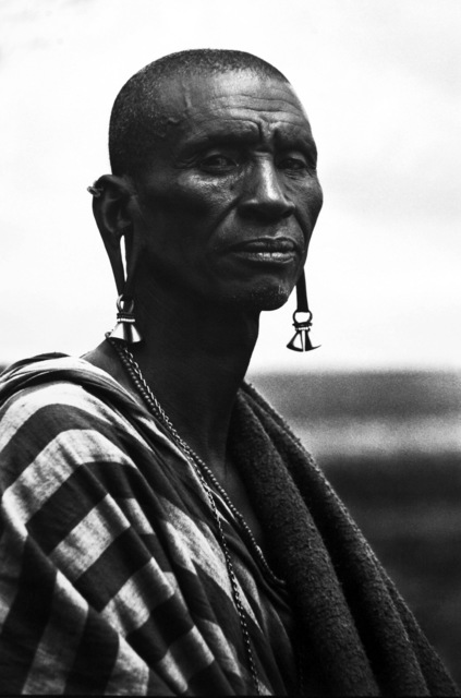 , 'Maasai Elder with elongated Ears ,' ca. 1967, Bernheimer Fine Art