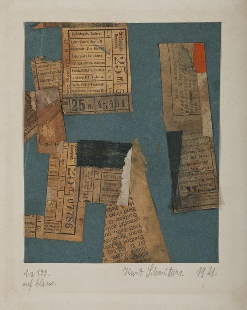 , 'Mz 177. auf blau.,' 1921, Galerie Natalie Seroussi