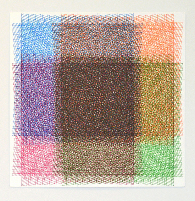 , '32 Layers of Rectangles, 4 Colors,' 2016, ODETTA
