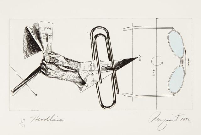 James Rosenquist, 'HEADLINES (GLENN 97)', 1976, Doyle