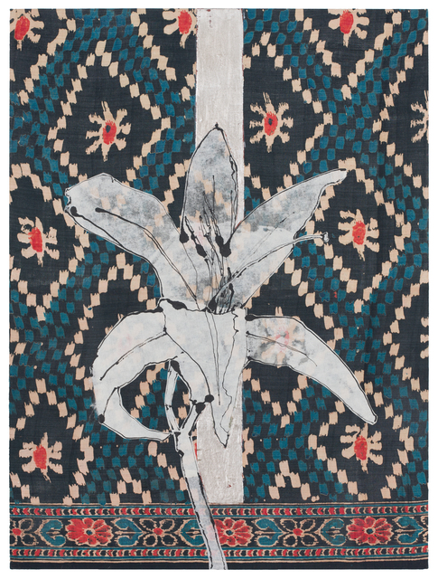 , 'Day Lily, Ikat Sari,' 2017, DC Moore Gallery