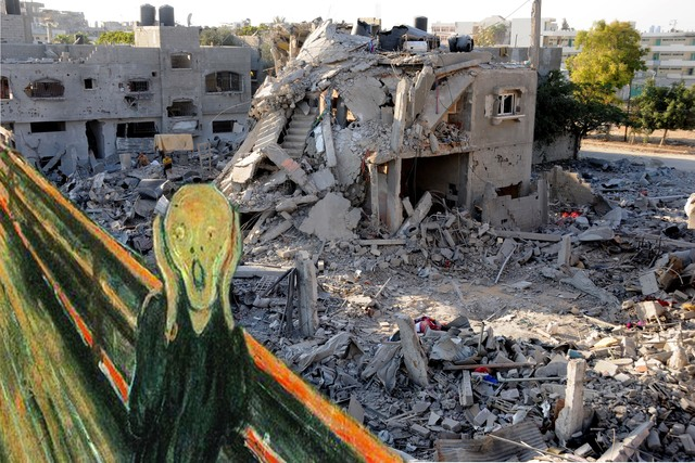 , 'The Scream Edvard Munch in Gaza,' 2017, Shababek