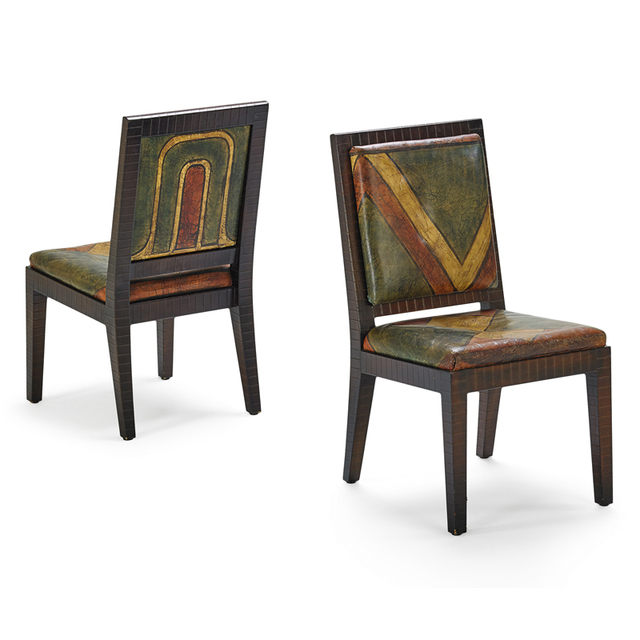 Karl Springer, 'Pair Of Custom Side Chairs, New York', 1980s, Rago/Wright