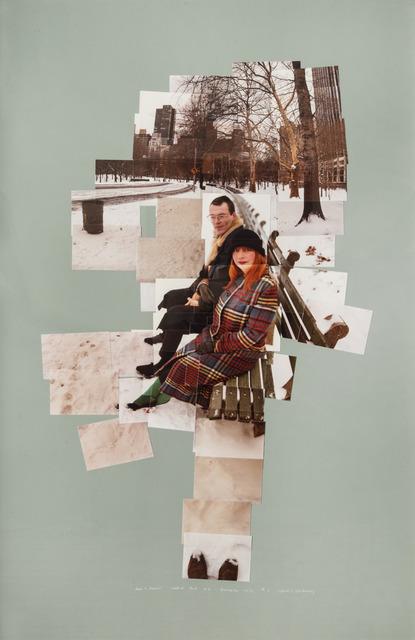 David Hockney, 'Anne + David, Central Park N. Y. December 1982 # 5', 1982, Galleria il Ponte