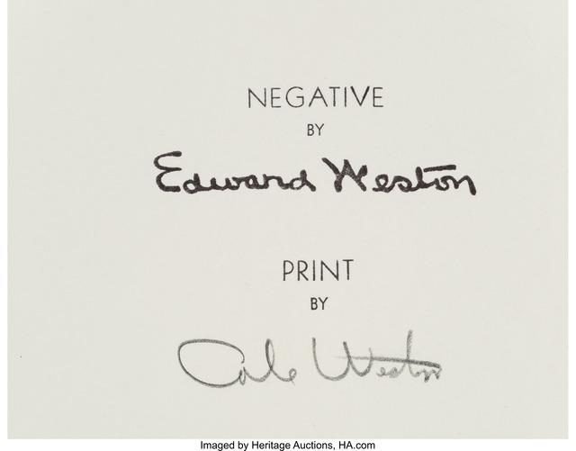 Edward Weston, 'Nude', 1936, Heritage Auctions