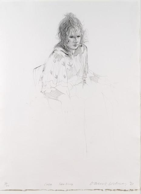 David Hockney, 'Celia Smoking', 1973, Leslie Sacks Gallery