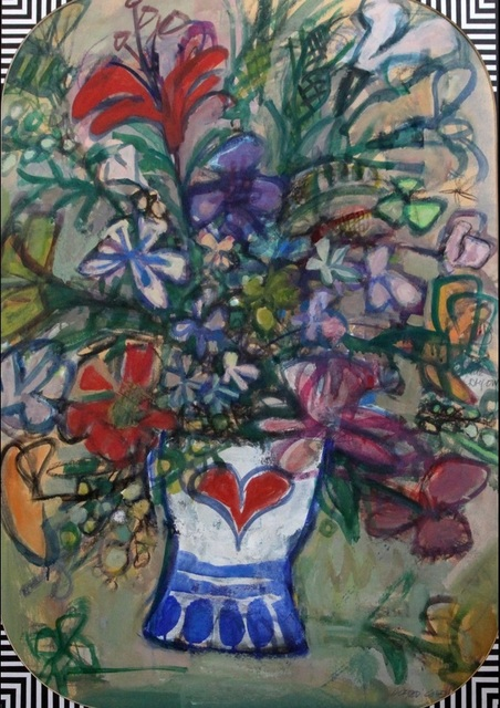 , 'Flower study with heart motif,' ca. 1970, Robert Eagle Fine Art