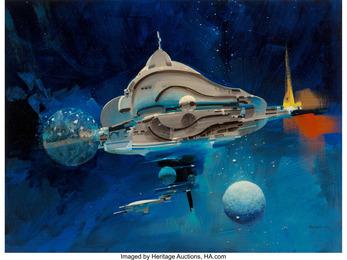 Spaceship Through the Blue study