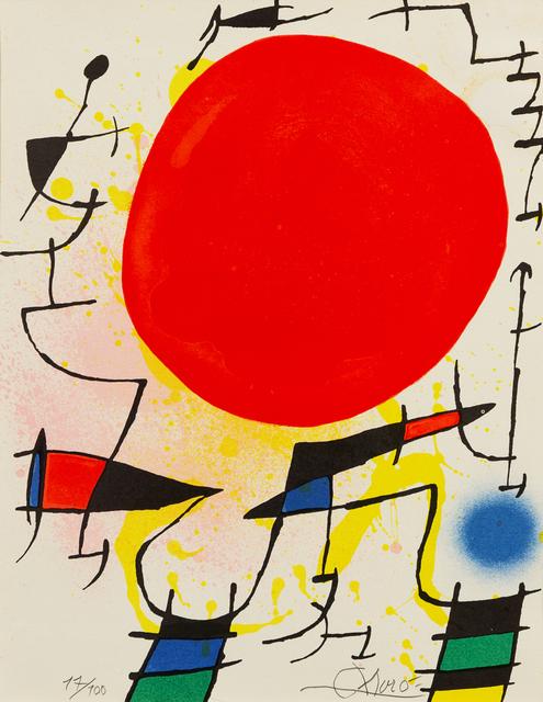 Joan Miró, 'Le Soleil Rouge', Print, Lithograph, Hindman