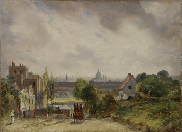 John Constable, 'Sir Richard Steele's Cottage, Hampstead', 1831 to 1832, Yale Center for British Art