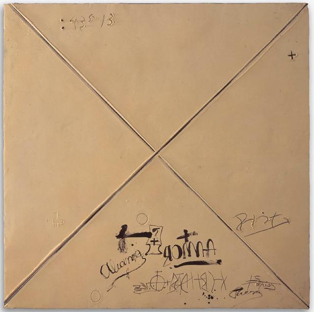 , 'Matèria ocre amb X,' 1996, Almine Rech