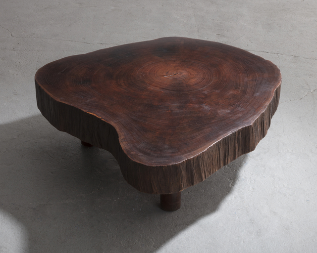 , 'Solid tree trunk coffee table made of a thick cross section of vinhatico wood,' 1950, R & Company