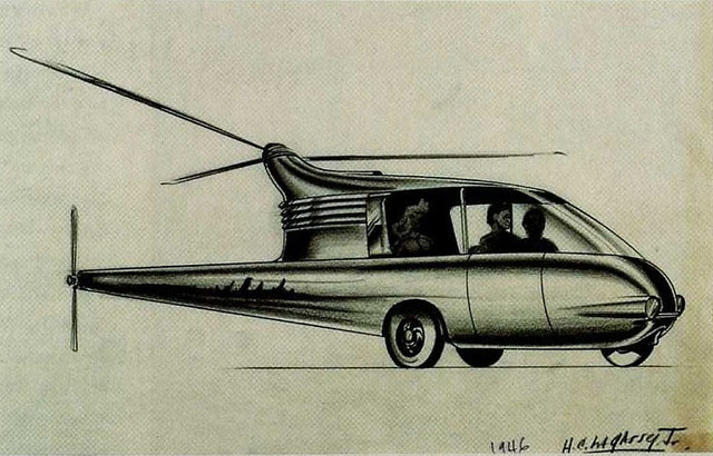 , 'Commuter Helicopter,' 1946, Norton Museum of Art